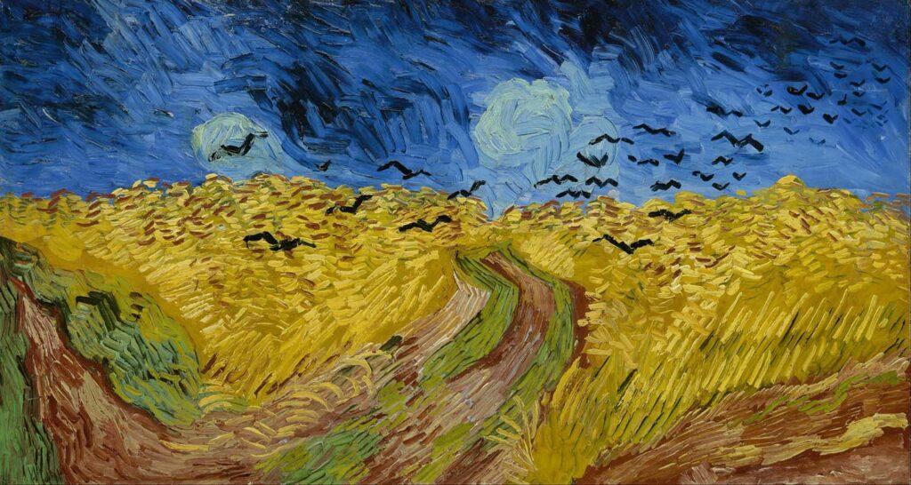 Van Gogh Campo di grano con corvi