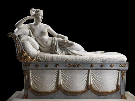 Paolina Borghese ritratta in una scultura di Antonio Canova