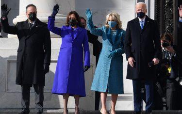 Kamala Harris all'insediamento presidenziale di Joe Biden
