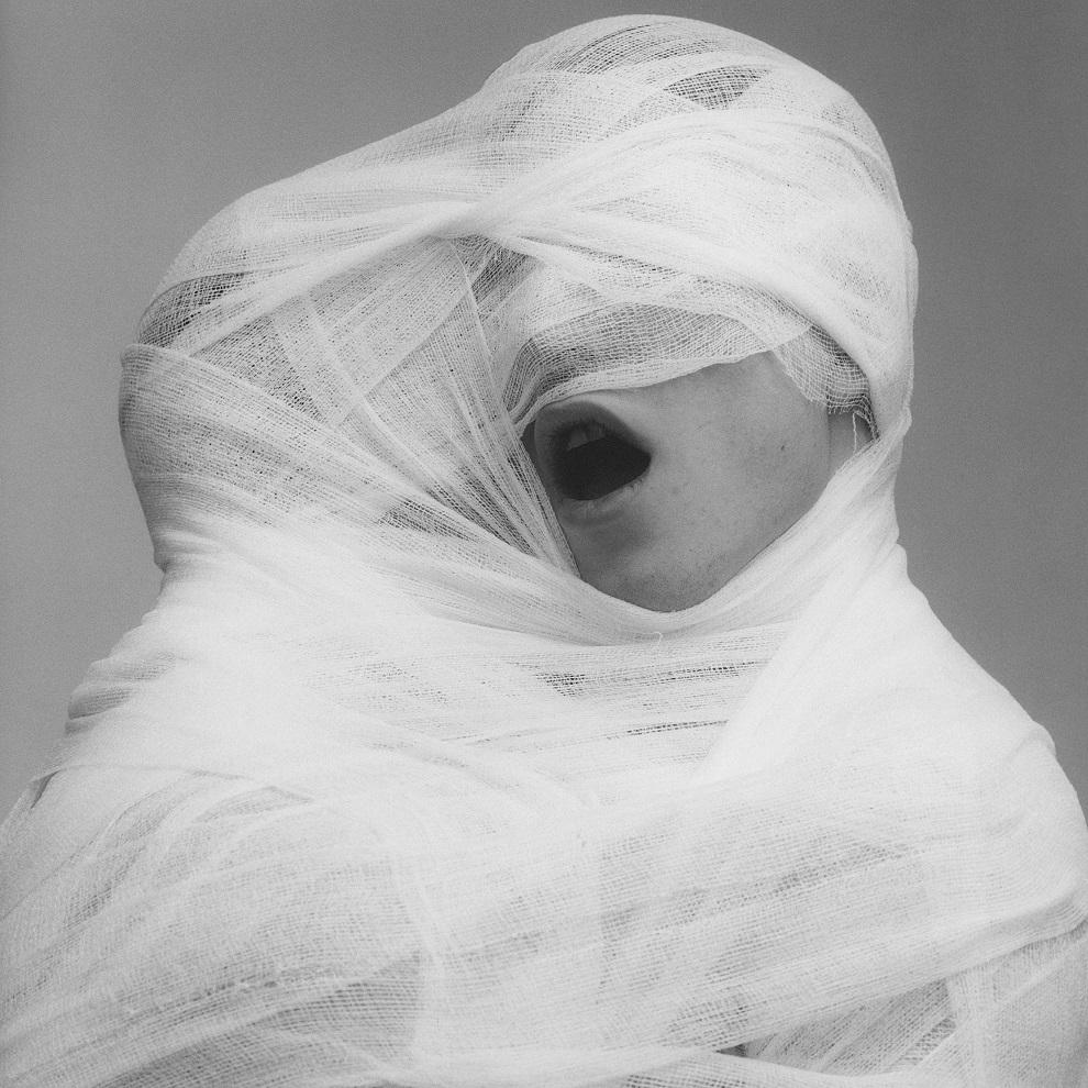 Robert Mapplethorpe 1984 bocca e bende sculture come Michelangelo