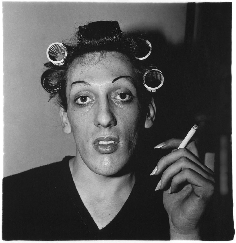 Diane Arbus, A Young Man in Curlers at Home on West 20th Street