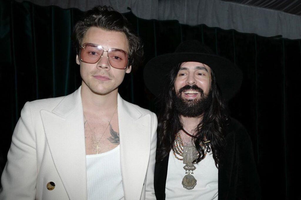 Harry Styles e Alessandro Michele Direttore Creativo di Gucci