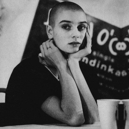 Sinéad O'Connor ritratto bianco e nero
