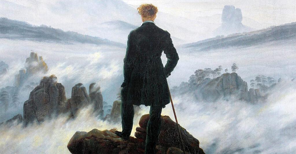 il viandante sul mare di nebbia di Caspar David Friedrich il sublime e lo sturm und drang del romanticismo tedesco