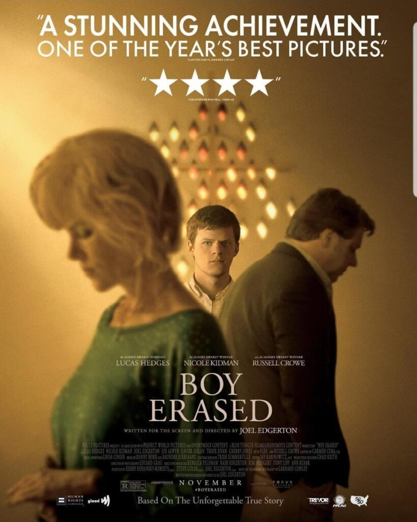 Boy Erased Vite cancellate locandina del film