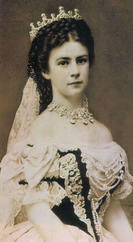 Principessa Sissi Imperatrice d'Austria ritratto con corona
