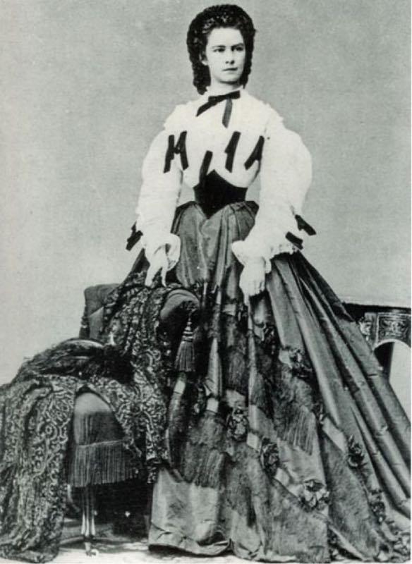 Vitino da vespa della principessa Sissi Imperatrice d'Austria con bustino