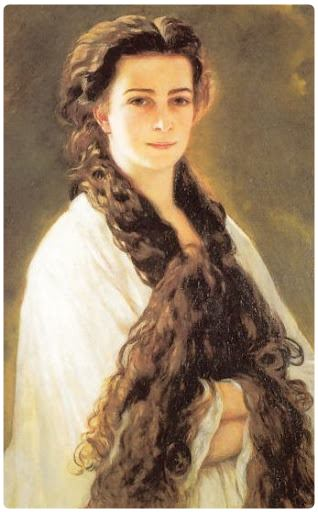 Principessa Elisabetta, Sissi di Baviera. I capelli lunghi