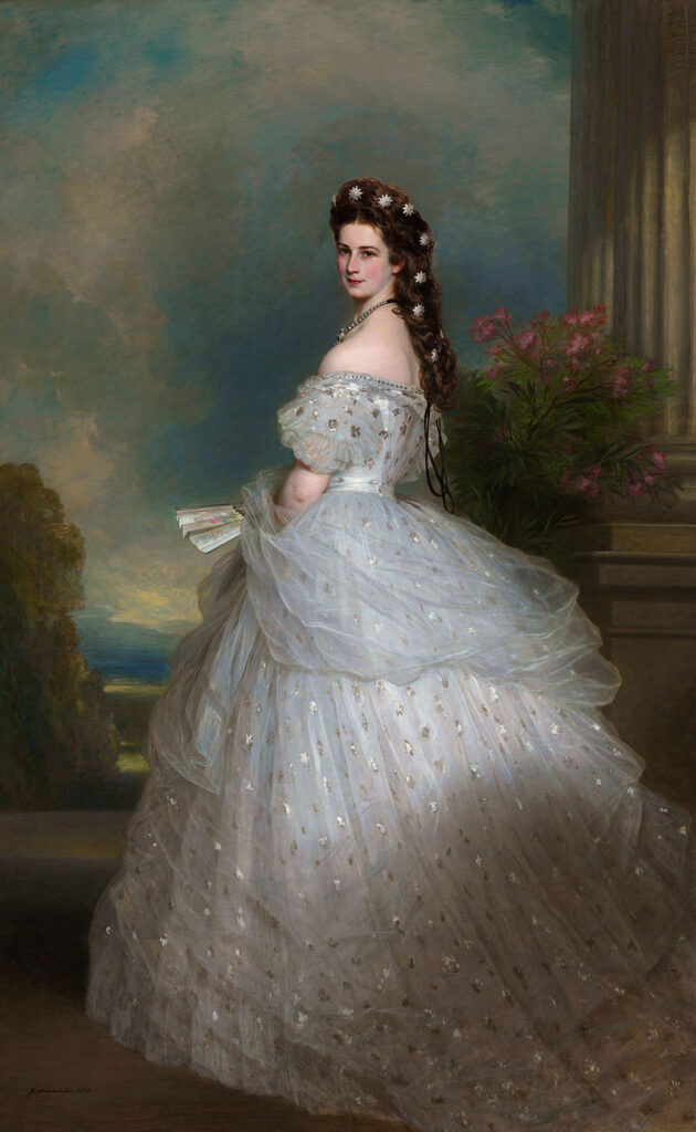 Principessa Sissi Imperatrice d'Austria abito matrimonio con Francesco Giuseppe con