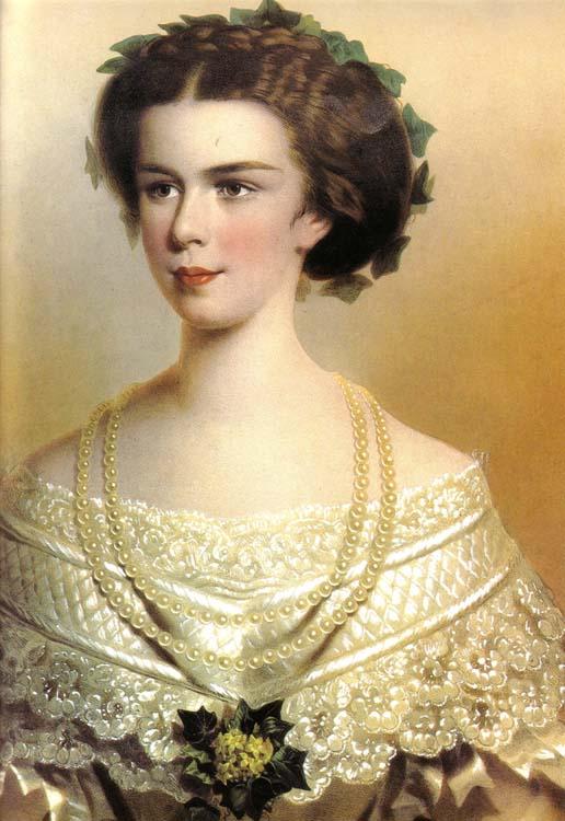 Ritratto dipinto di Sissi Imperatrice Elisabetta di Baviera